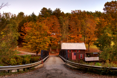Fall Sunset at Foundry Bridge in North Tunbridge Vermont